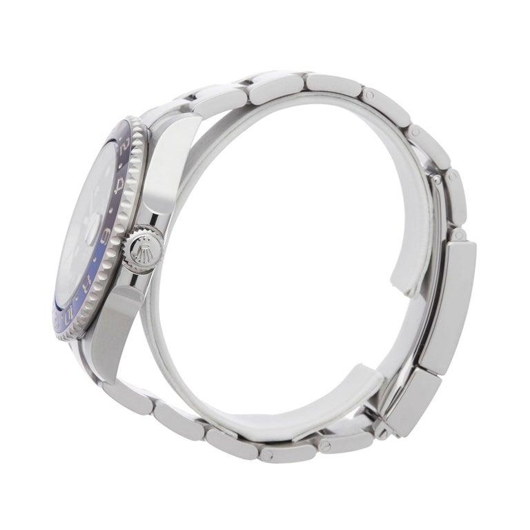 Rolex GMT-Master II Batman Stainless Steel 116710BLNR Wristwatch In Excellent Condition For Sale In Bishops Stortford, Hertfordshire