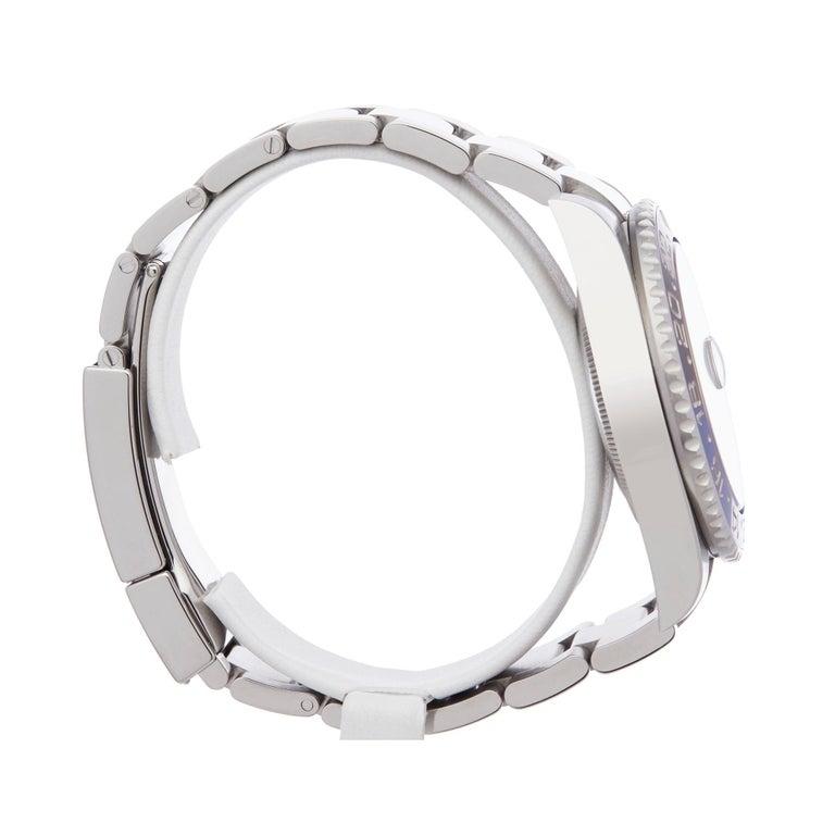 Rolex GMT-Master II Batman Stainless Steel 116710BLNR Wristwatch For Sale 1