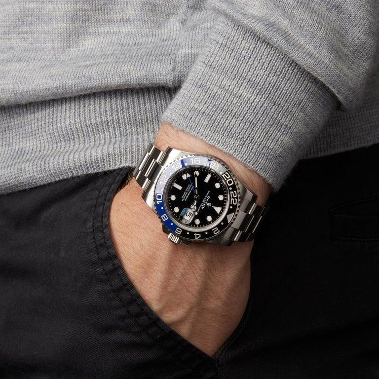 Rolex GMT-Master II Batman Stainless Steel 116710BLNR Wristwatch For Sale 4