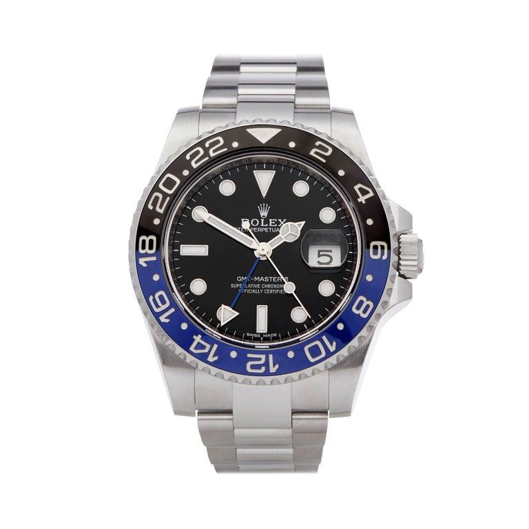 Rolex GMT-Master II Batman Stainless Steel 116710BLNR Wristwatch For Sale