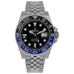 Rolex GMT Master II Batman Stainless-Steel Jubilee Bracelet Watch