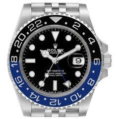Rolex GMT Master II Black Blue Batman Jubilee Men's Watch 126710 Box Card