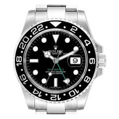 Rolex GMT Master II Black Dial Green Hand Men's Watch 116710