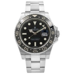 Rolex GMT Master II Black Dial Oyster Band Steel Automatic Men's Watch 116710LN