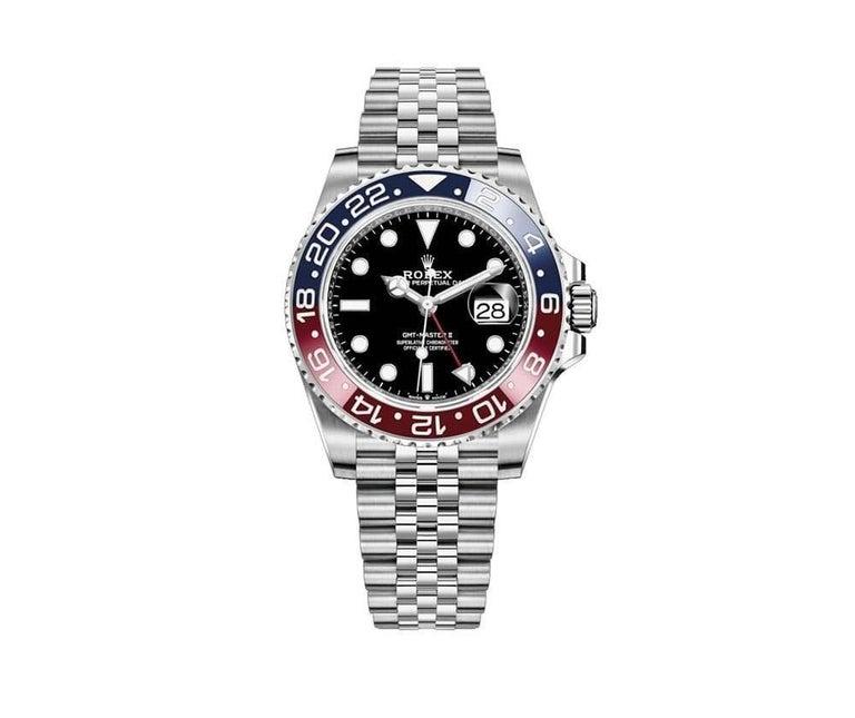 Rolex GMT Master II Black Dial Stainless Steel Men's Watch 126710blro-0001 In New Condition For Sale In Wilmington, DE