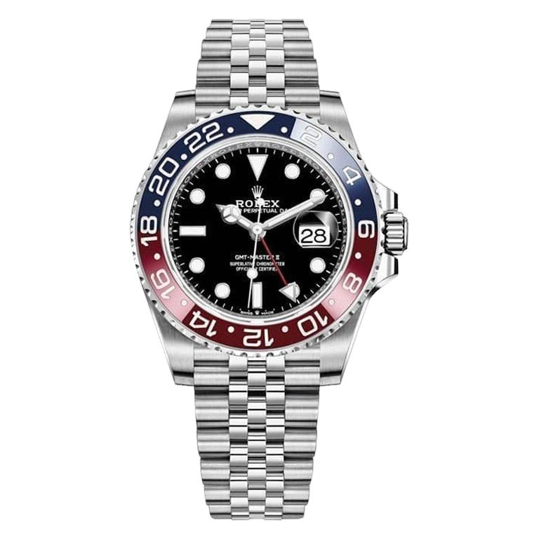 Rolex GMT Master II Black Dial Stainless Steel Men's Watch 126710blro-0001 For Sale