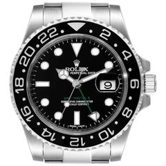 Rolex GMT Master II Black Dial Steel Men's Watch 116710 Box Card