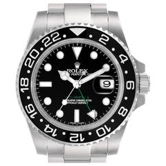 Rolex GMT Master II Black Dial Steel Men's Watch 116710 Box Papers