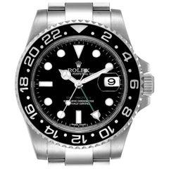 Rolex GMT Master II Black Dial Steel Men's Watch 116710