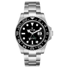 Rolex GMT Master II Black Dial Steel Men's Watch 116710