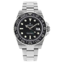 Rolex GMT-Master II Black on Black Green Hand Steel Automatic Men's Watch 116710