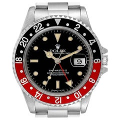 Rolex GMT Master II Black Red Coke Bezel Men's Watch 16710
