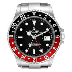 Rolex GMT Master II Black Red Coke Bezel Mens Watch 16710