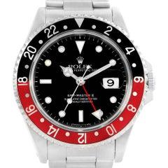 Rolex GMT Master II Black Red Coke Bezel Men's Watch 16710