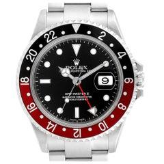 Rolex GMT Master II Black Red Coke Bezel Steel Men's Watch 16710