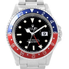 Rolex GMT Master II Blue Red Pepsi Bezel Men's Watch 16710
