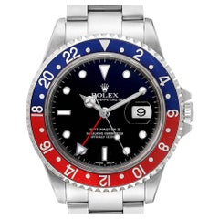 Rolex GMT Master II Blue Red Pepsi Bezel Steel Men's Watch 16710