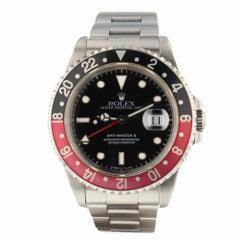 Rolex GMT Master II Coke Bezel Steel Black Automatic Watch 16710 Serial W