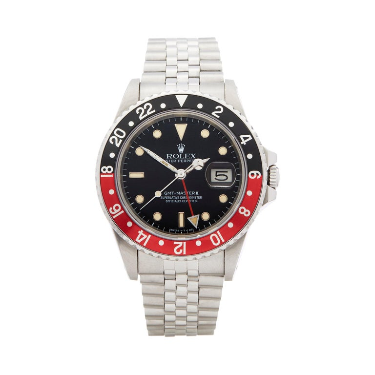 Rolex GMT-Master II Coke Fat Ladies Mk1 Stainless Steel 16760 For Sale