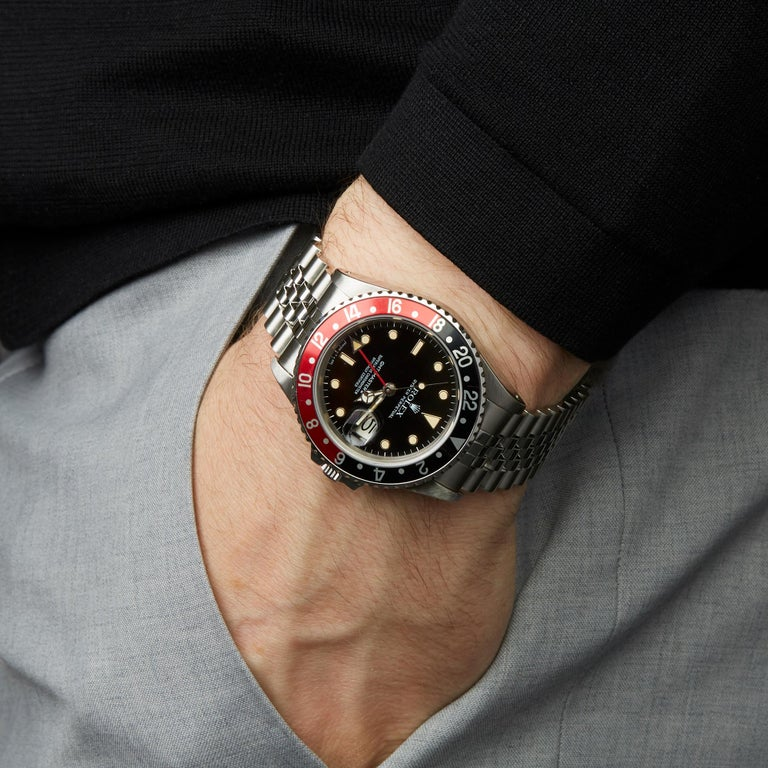 Rolex GMT-Master II Coke Fat Ladies Mk1 Stainless Steel 16760 For Sale 9