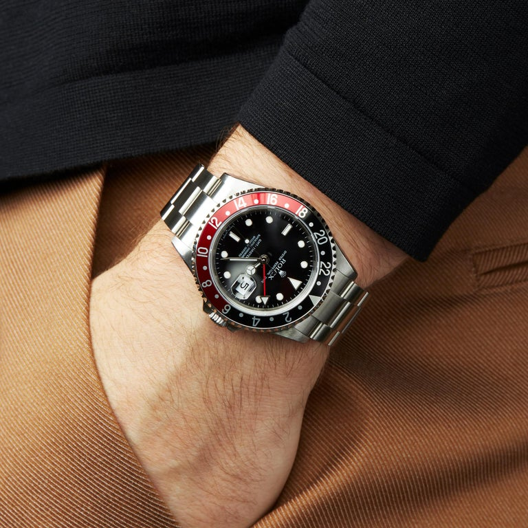 Rolex GMT-Master II Coke Rectangular Dial Stainless Steel 16710 For Sale 4
