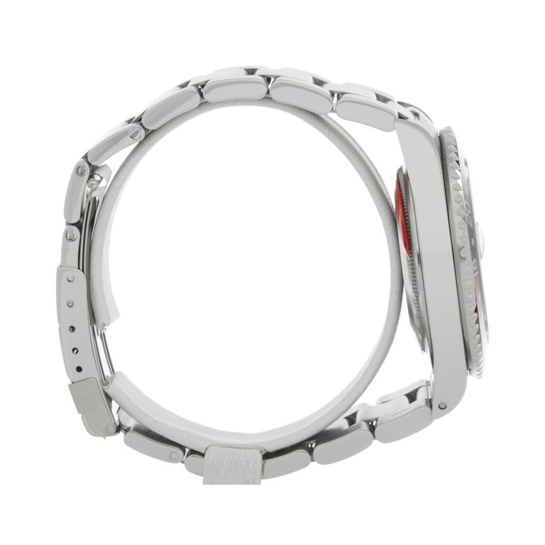 Men's Rolex GMT-Master II Coke Stainless Steel 16710 For Sale