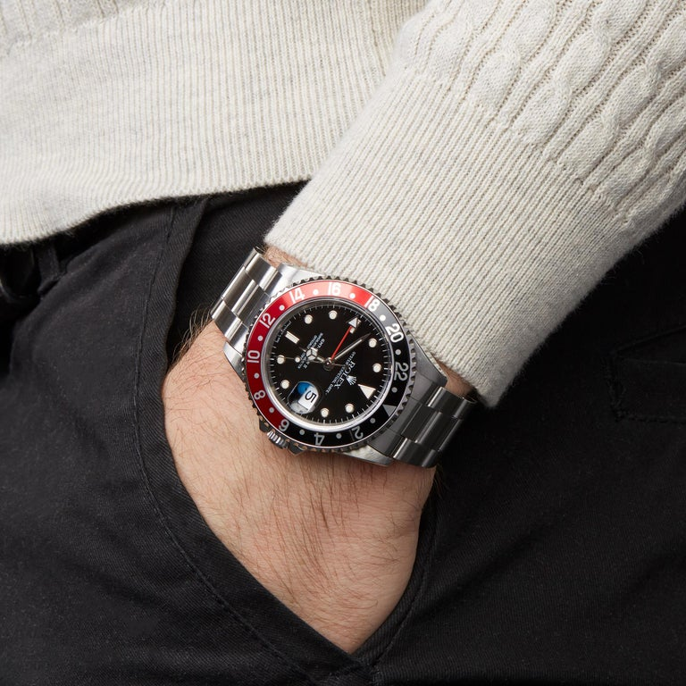 Rolex GMT-Master II Coke Stainless Steel 16710 For Sale 4