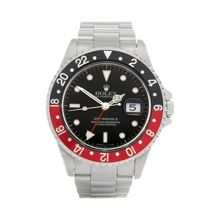 Rolex GMT-Master II Coke Stainless Steel 16710 For Sale