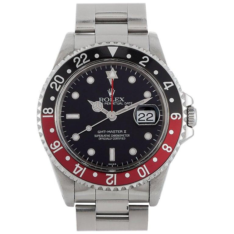 """Rolex GMT-Master II """"Coke"""" Watch 16710 For Sale"""