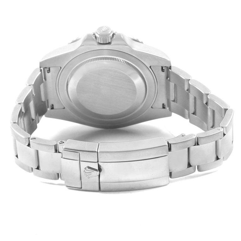 Rolex Gmt Master Ii Green Hand Steel Men S Watch 116710 Box Papers