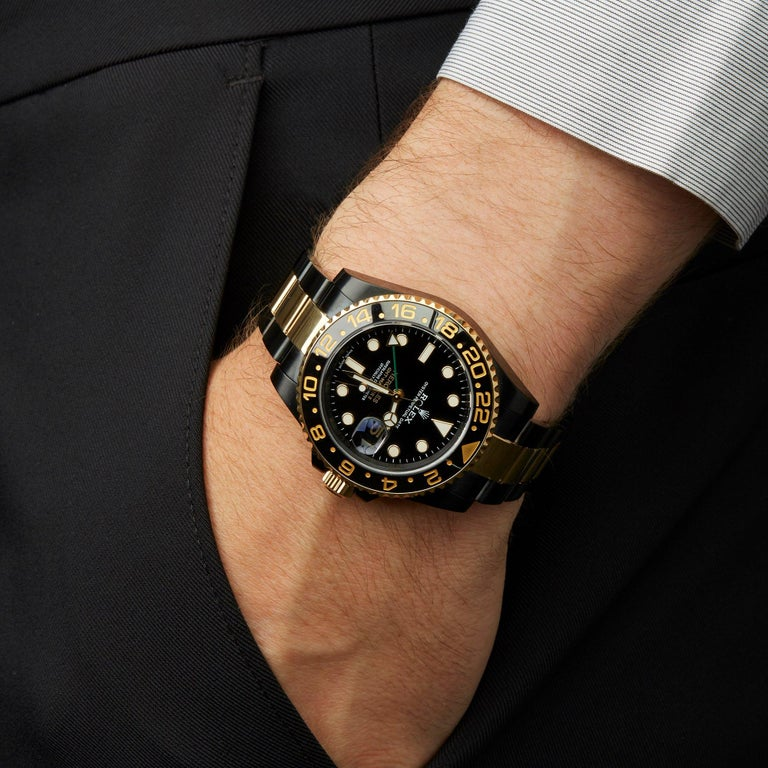 Rolex GMT-Master II Hercules Dlc Coated Stainless Steel and 18 Karat Gold 116713 For Sale 3