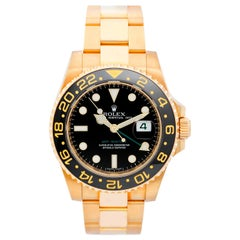 Rolex GMT-Master II Men's 18 Karat Yellow Gold Watch 116718