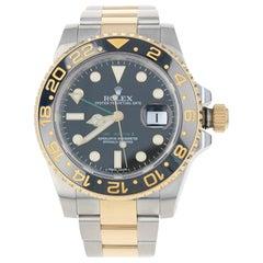 Rolex GMT-Master II Men's Watch Stainless & 18k Gold Automatic 2 Yr Wnty 116713