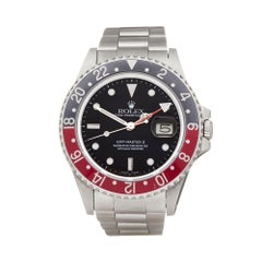 Rolex GMT-Master II MKII Fat Lady Coke Stainless Steel 16760 Wristwatch