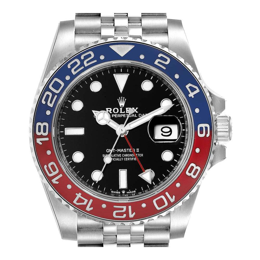 Rolex GMT Master II Pepsi Bezel Jubilee Steel Mens Watch 126710