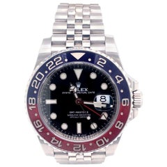 Rolex GMT-Master II Pepsi Bezel Stainless Steel Men's Jubilee Watch 126710BLRO