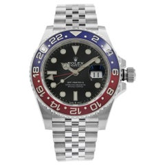 Rolex GMT-Master II Pepsi Ceramic Steel Automatic Men's Black Watch 126710BLRO