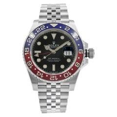 Rolex GMT-Master II Pepsi Ceramic Steel Automatic Men's Black Watch 126710BLRO