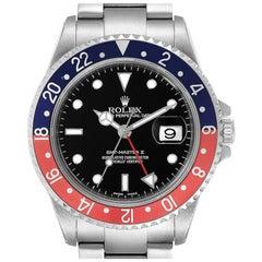 Rolex GMT Master II Pepsi Red and Blue Bezel Steel Men's Watch 16710