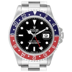 Rolex GMT Master II Pepsi Red and Blue Bezel Steel Men's Watch 16710