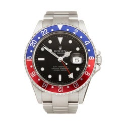 Rolex GMT-Master II Rectangular Dial NOS Pepsi Stainless Steel 16710 Wristwatch