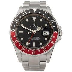 Rolex GMT-Master II Rectangular Dial Stainless Steel 16710 Wristwatch