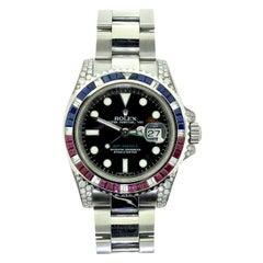 Rolex GMT Master II Ref. 116710 Multi Gem Stone Steel Watch