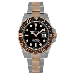 Rolex GMT Master II Root Beer Stainless Steel and Rose Gold Watch 126711CHNR