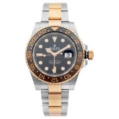 Rolex GMT-Master II Root Beer Steel Gold Black Dial Men Watch 126711CHNR