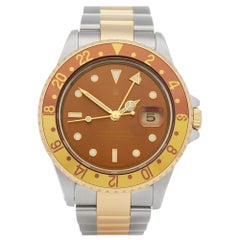 Rolex GMT-Master II Rootbeer Stainless Steel and Yellow Gold 16713
