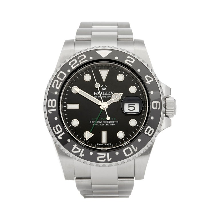 Rolex GMT-Master II Stainless Steel 116710LN For Sale