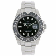 Rolex GMT Master II Stainless Steel Black Ceramic Bezel Watch 116710LN