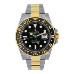 Rolex GMT Master II Stainless Steel and 18 Karat Yellow Gold Watch 116713LN