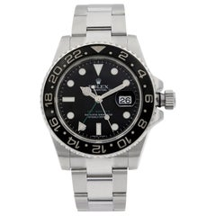 Rolex GMT-Master II Stainless Steel Black Dial Automatic Men's Watch 116710N
